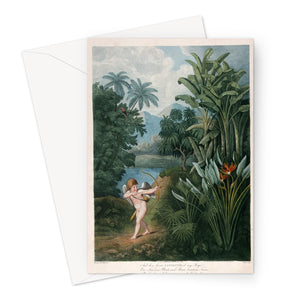 Cupid Inspiring Plants With Love by T.Burke, ca. 1805 - Valentine Greeting Card