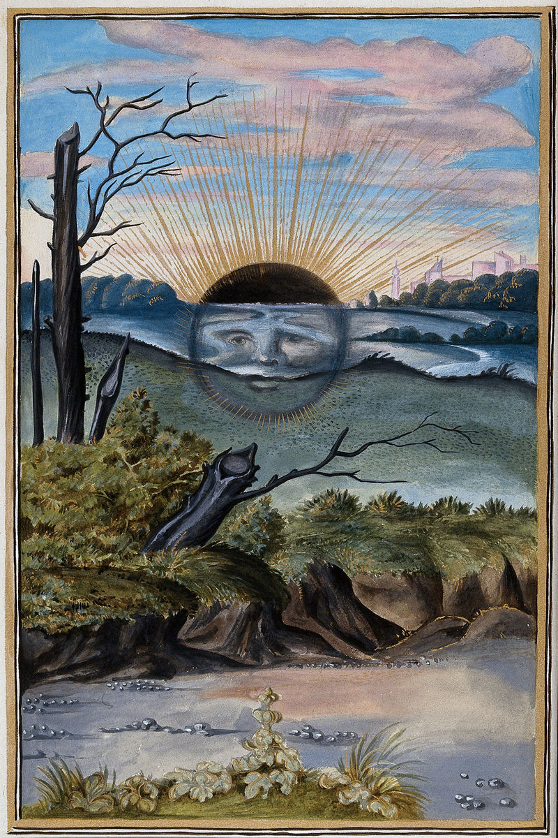 A Black Sun, From 'Splendor Solis', 16th Century