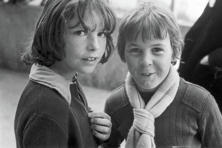 Two Young Football Fans in Manchester by Iain S.P. Reid - circa. 1977