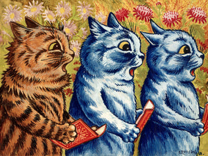 Three Cats Singing by Louis Wain - c. 1925-1939