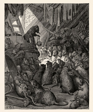 The Council of The Rats by Gustave Doré - 1868