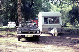 Camping with a TC Marina, New Forest, England - 1974