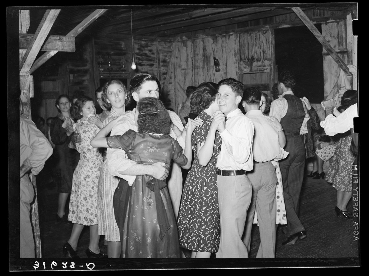 Fais-do-do dance near Crowley, Louisiana by Russell Lee - 1938