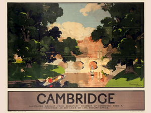 (LNER) Cambridge poster by Graham Petrie - c.1930
