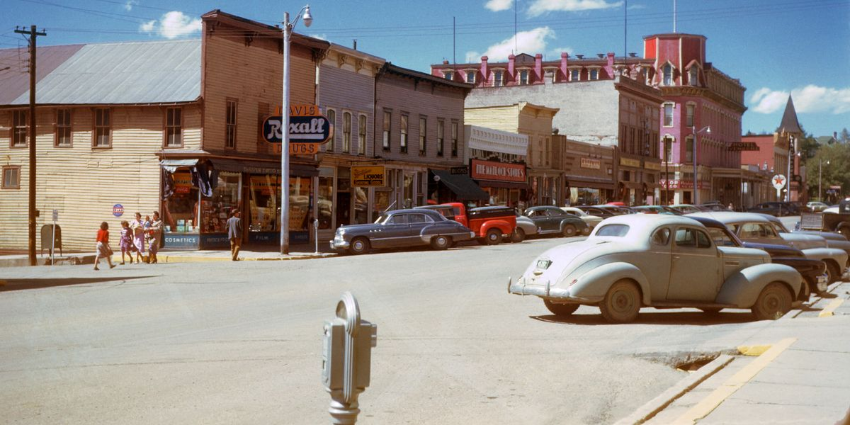 Leadville & the Hotel Vendome, Colorado by Chalmers Butterfield - c.1957