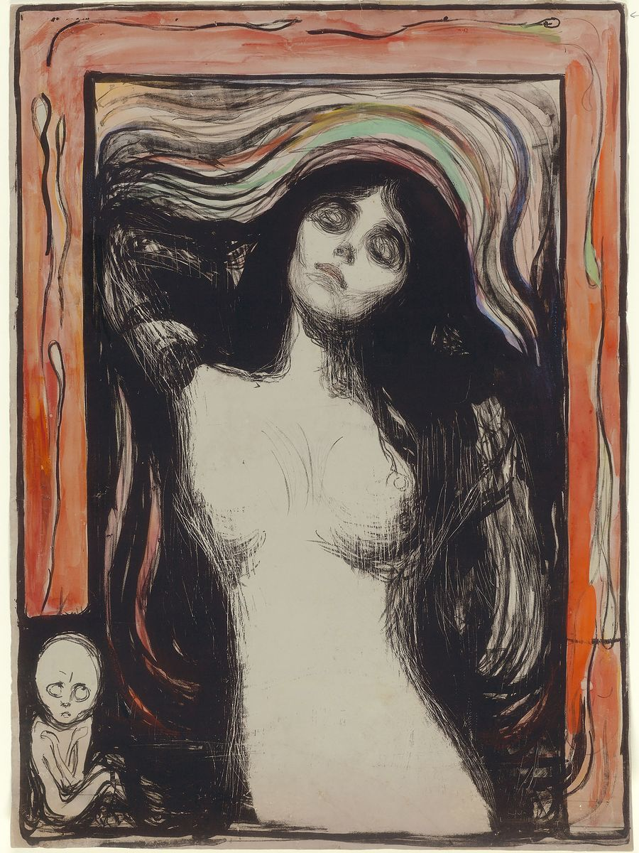 Madonna by Edvard Munch - 1895-6