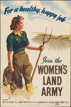 Women's Land Army Poster - WW2