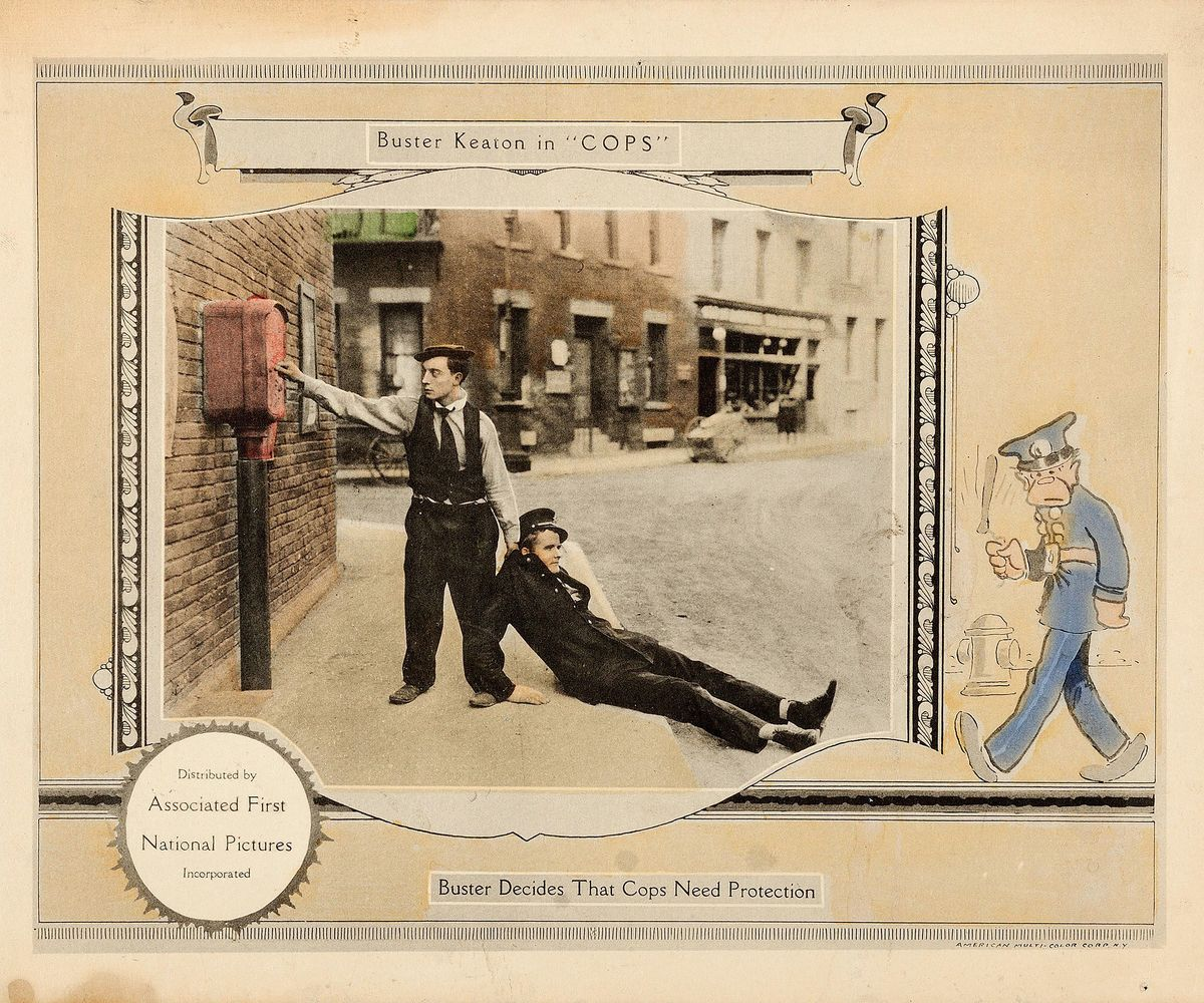 Lobby Card for Buster Keaton's 'Cops' - 1922