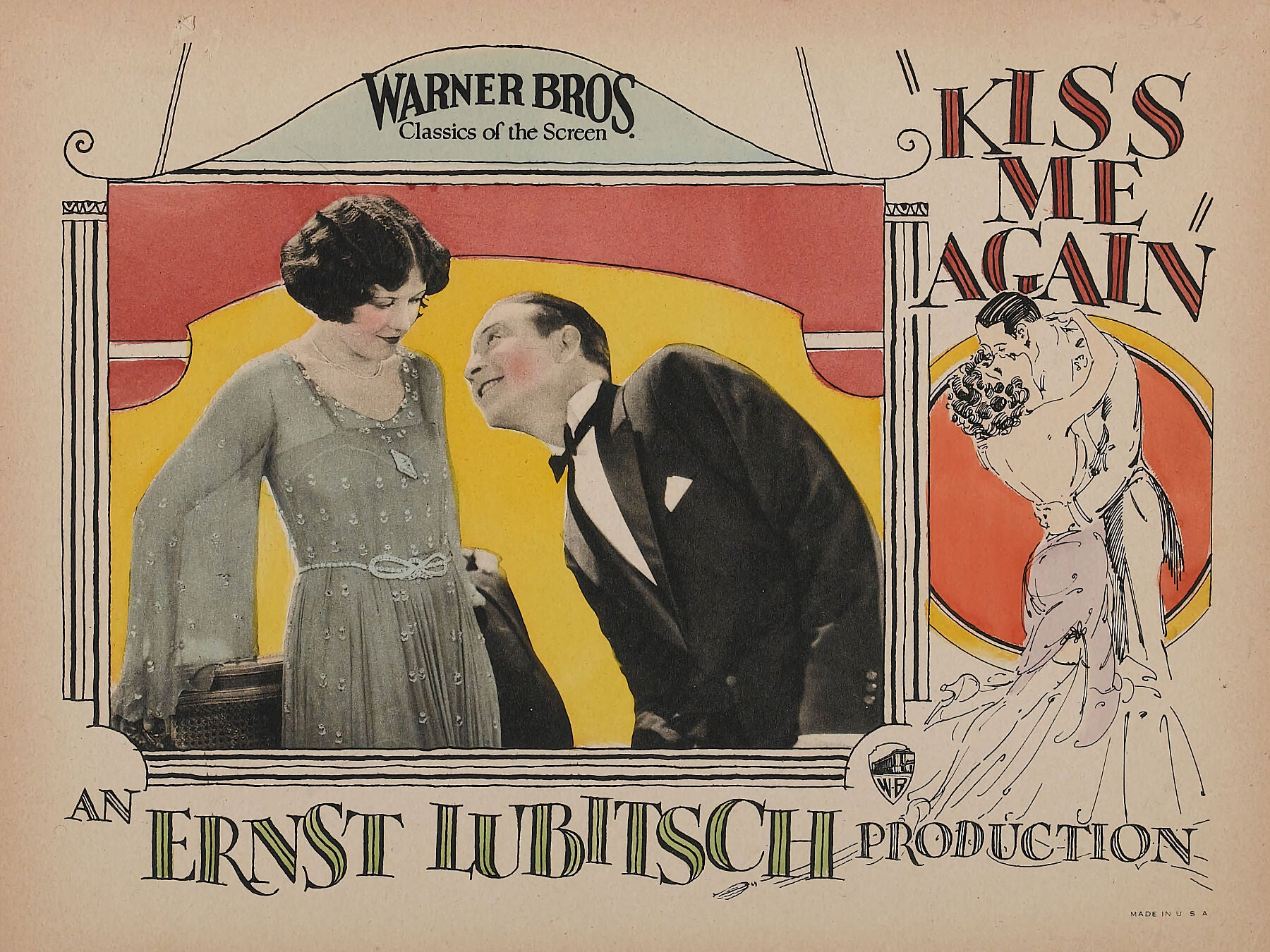 Kiss Me Again Lobby Card - 1925