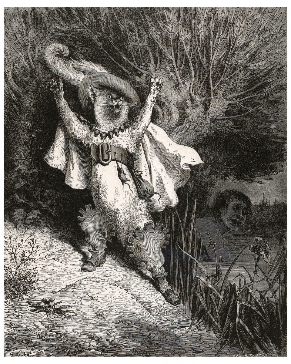 Puss in Boots by Gustave Doré - c. 1865