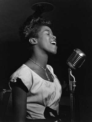 Sarah Vaughan at Cafe Society by by William P. Gottlieb - 1946