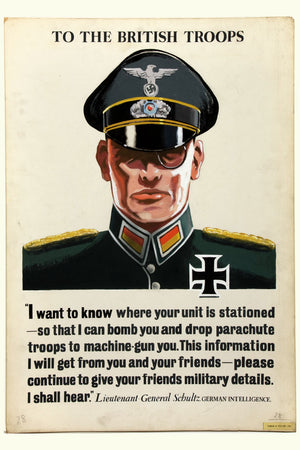 German Intelligence Officer, poster - c. 1940