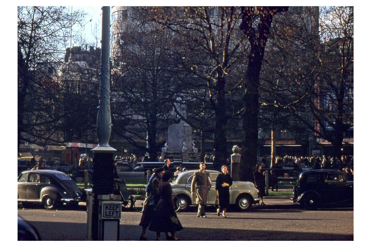 Leicester Square in London by Hardwicke Knight c.1953