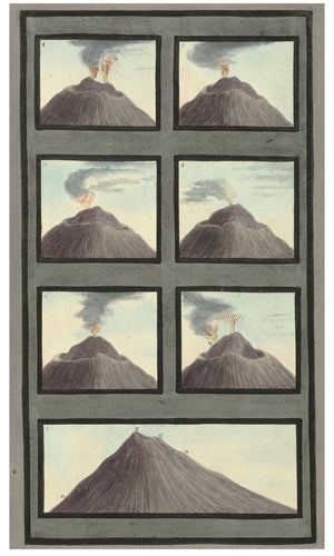 Plans of The Top of Mount Vesuvius by Sir William Hamilton - 1767