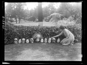 Display of Masks by Arnold Genthe - 1931