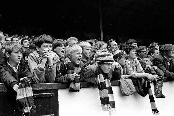 West Ham United football fans by Steve Lewis - 1960s