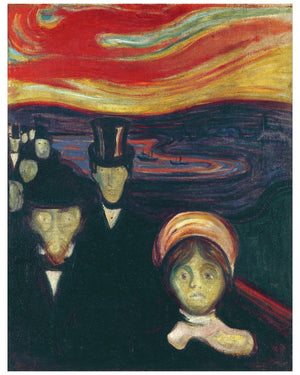 Anxiety by Edvard Munch - 1894