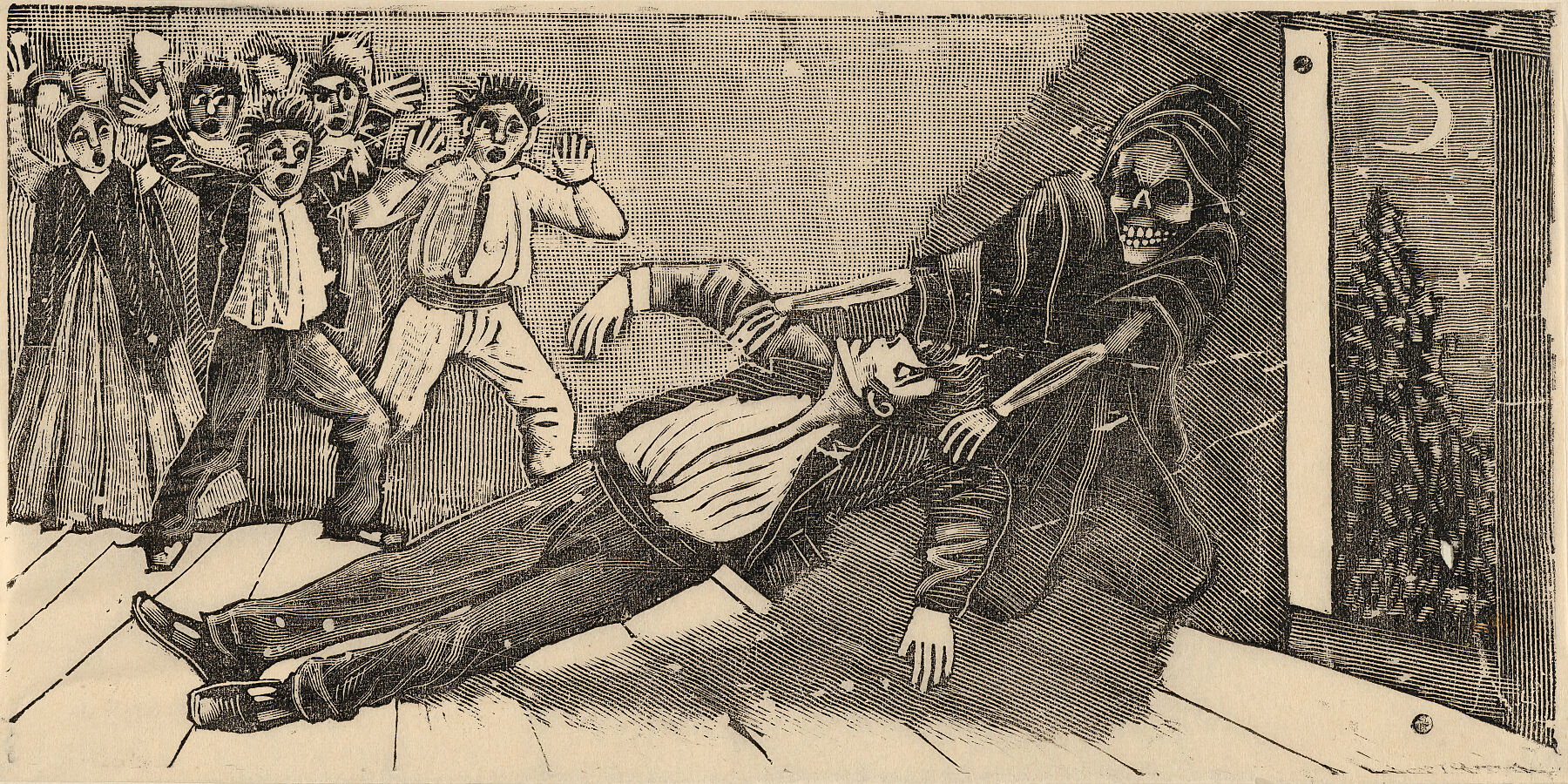 The apparation of the ghost of don Juan Manuel to Pachita la Alfajorera ca. 1893 José Guadalupe Posada  copy