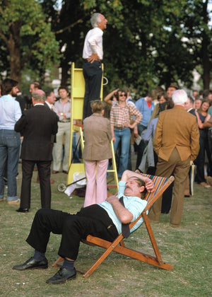 Man Sleeping at Speakers' Corner in London by George Kindbom - 1979