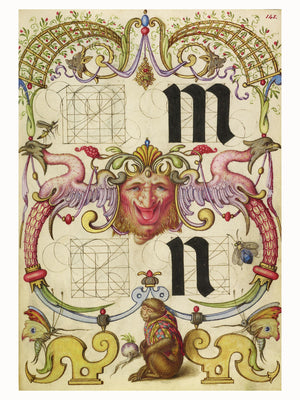 Guide for Constructing the Letters m and n by Joris Hoefnagel - 1591