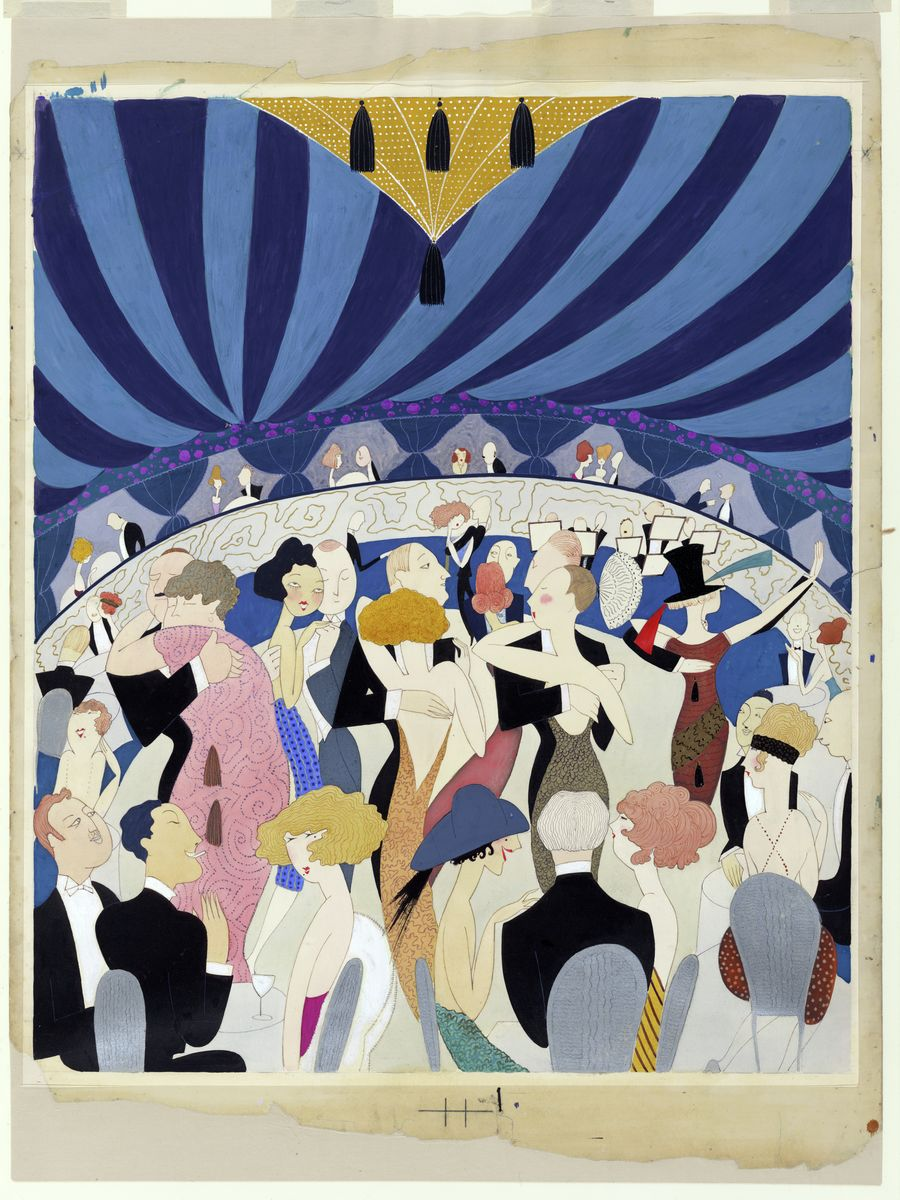 Couples Dancing in a Nightclub by Anne Harriet Fish - 1921