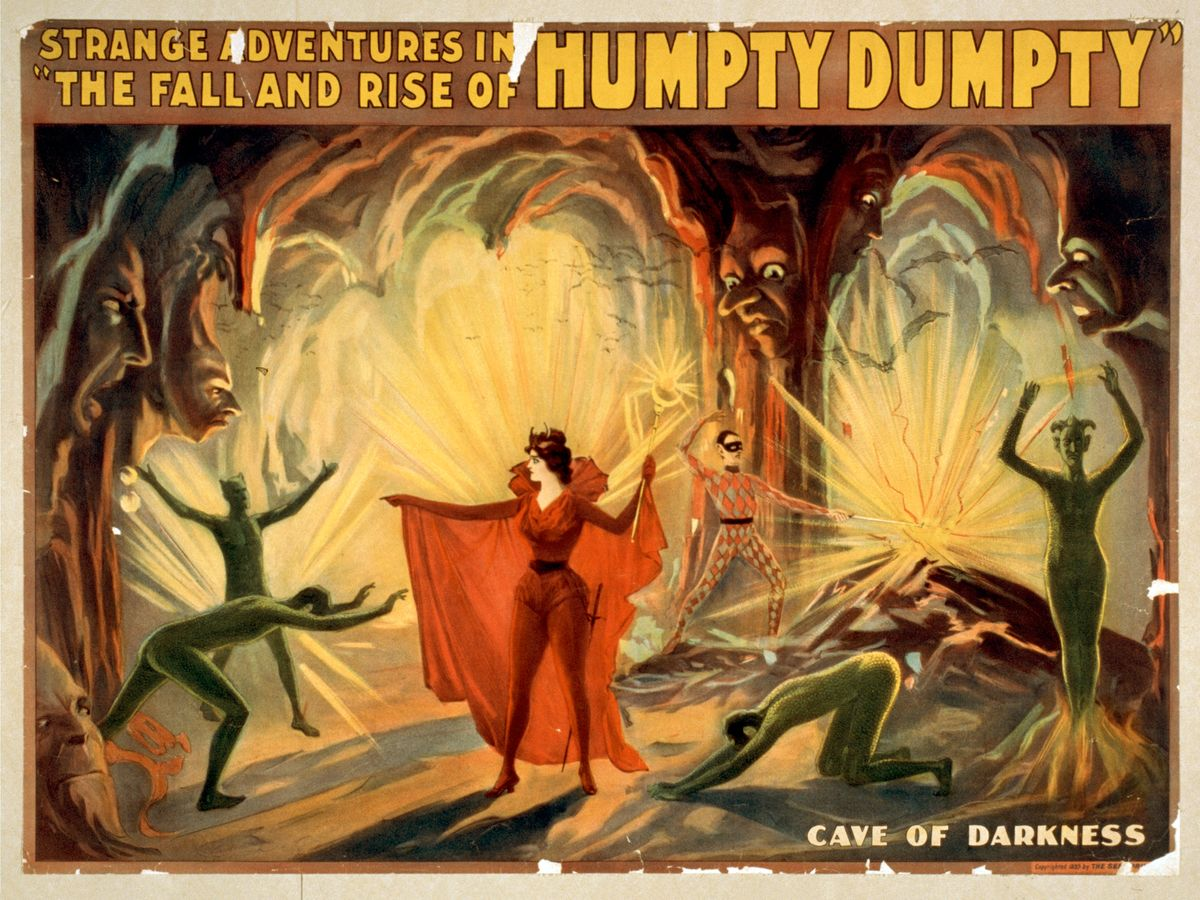 Strange Adventures in The Fall and Rise of Humpty Dumpty, Cave of Darkness - 1899
