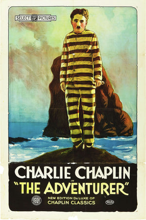 Poster for 'The Adventurer' with Charlie Chaplin - 1917