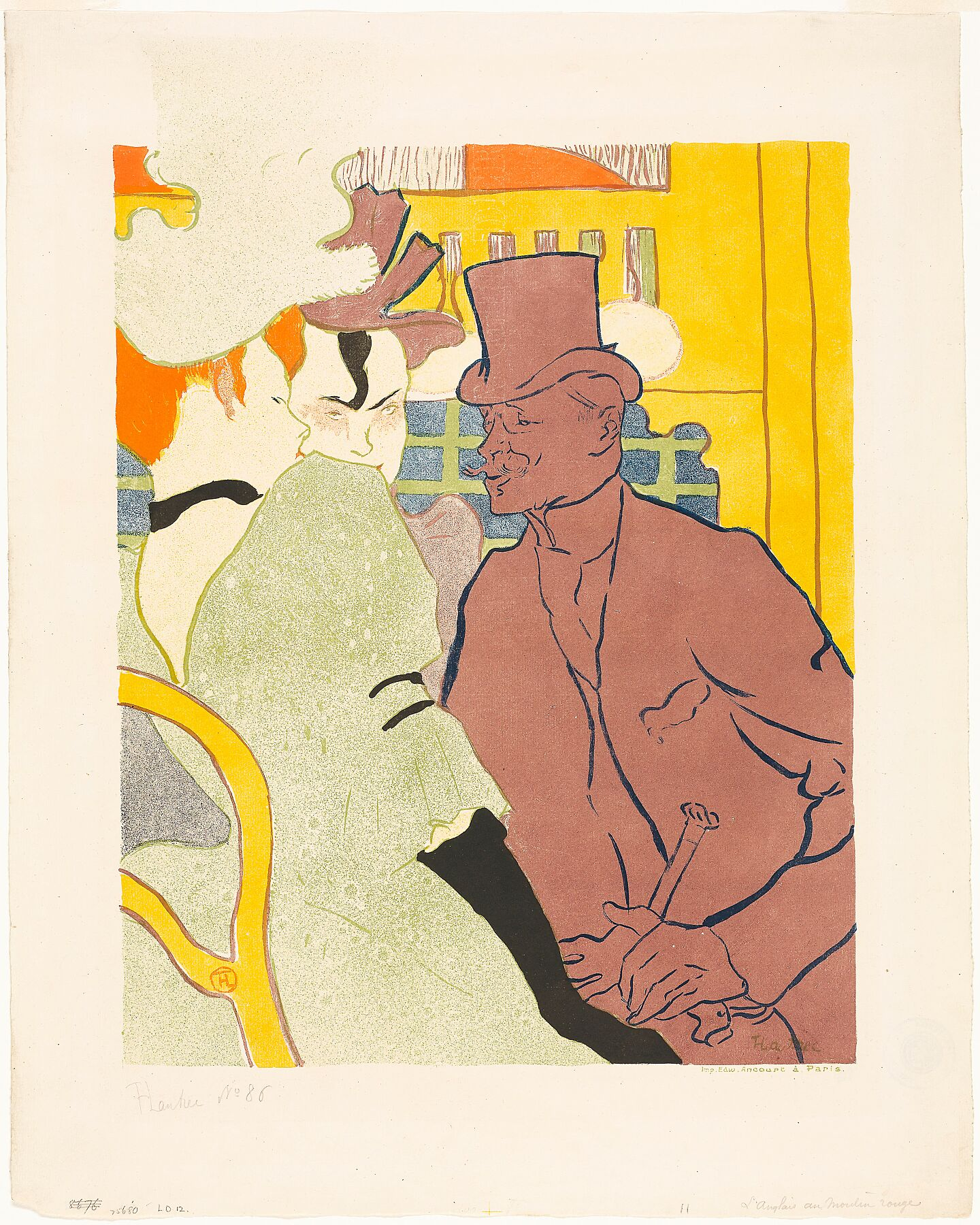 The Englishman at the Moulin Rouge y bHenri de Toulouse-Lautrec - 1892