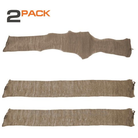 "Arcturus 47"" Silicone Treated Gun Socks - Coyote Brown 2-Pack"