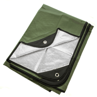 """Arcturus All Weather Outdoor Survival Blanket 60"""" x 82"""" - Olive Green"""