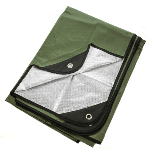 "Arcturus All Weather Outdoor Survival Blanket 60"" x 82"" - Olive Green"