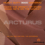 Arcturus Desert Camo Netting with Mesh Support Grid