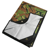 """Arcturus All Weather Outdoor Survival Blanket 60"""" x 82"""" - Woodland Camo"""