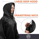 Arcturus Lightweight Waterproof Rain Poncho - Black