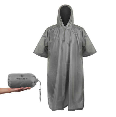 Arcturus Lightweight Waterproof Rain Poncho - Gray