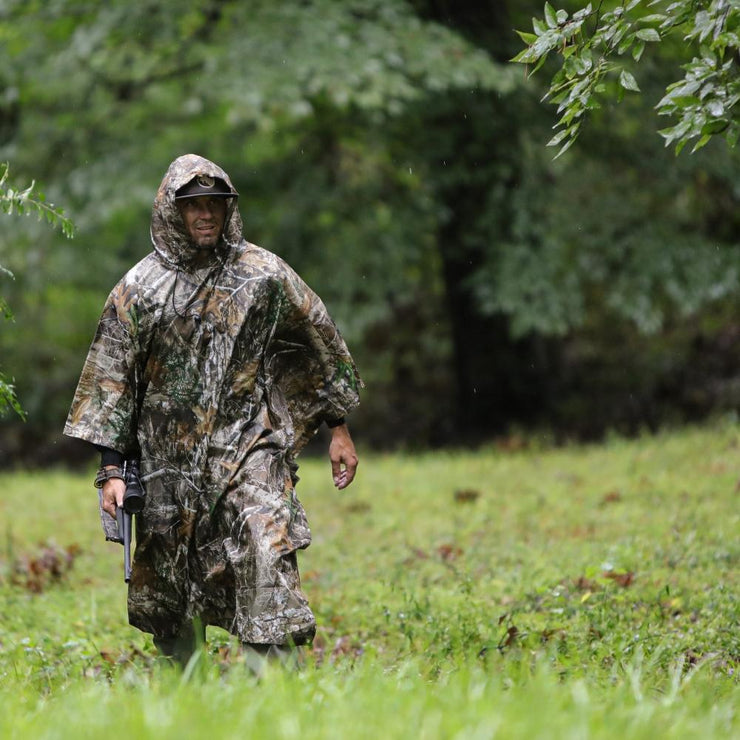 Arcturus Lightweight Waterproof Rain Poncho - Realtree EDGE
