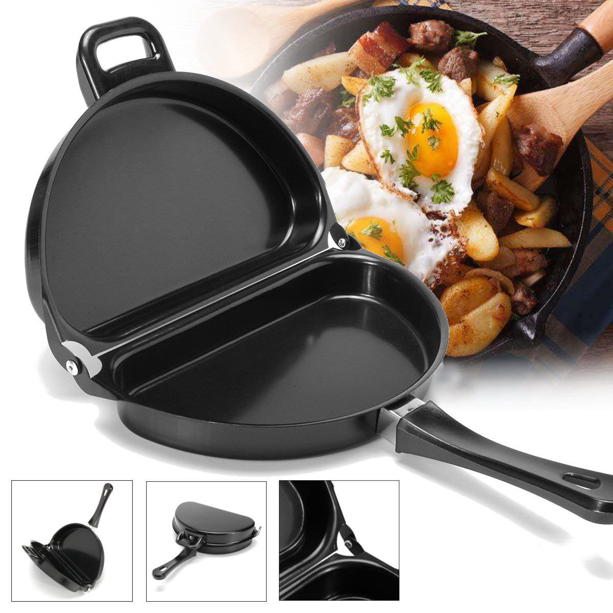 Double Sided Folding Omelette Pan - Non Stick