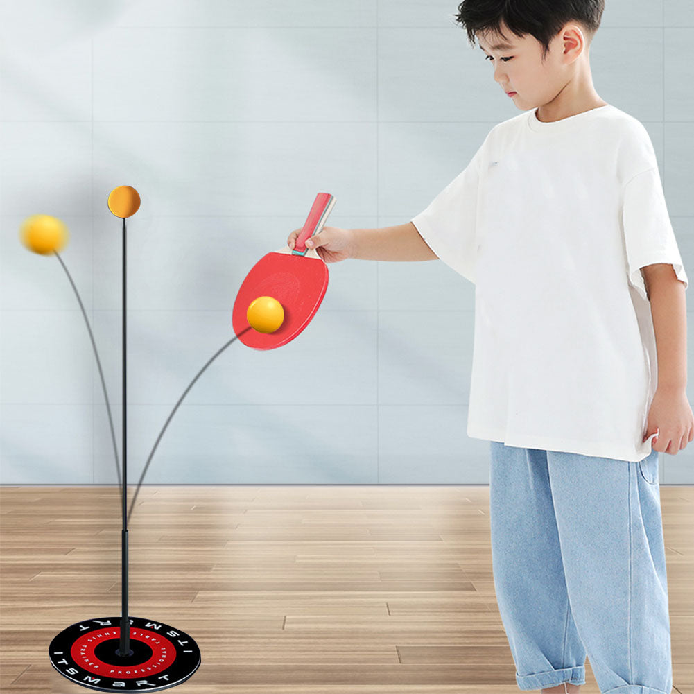 Indoor Ping Pong Table Tennis Paddle and Quick Rebound Trainer Set