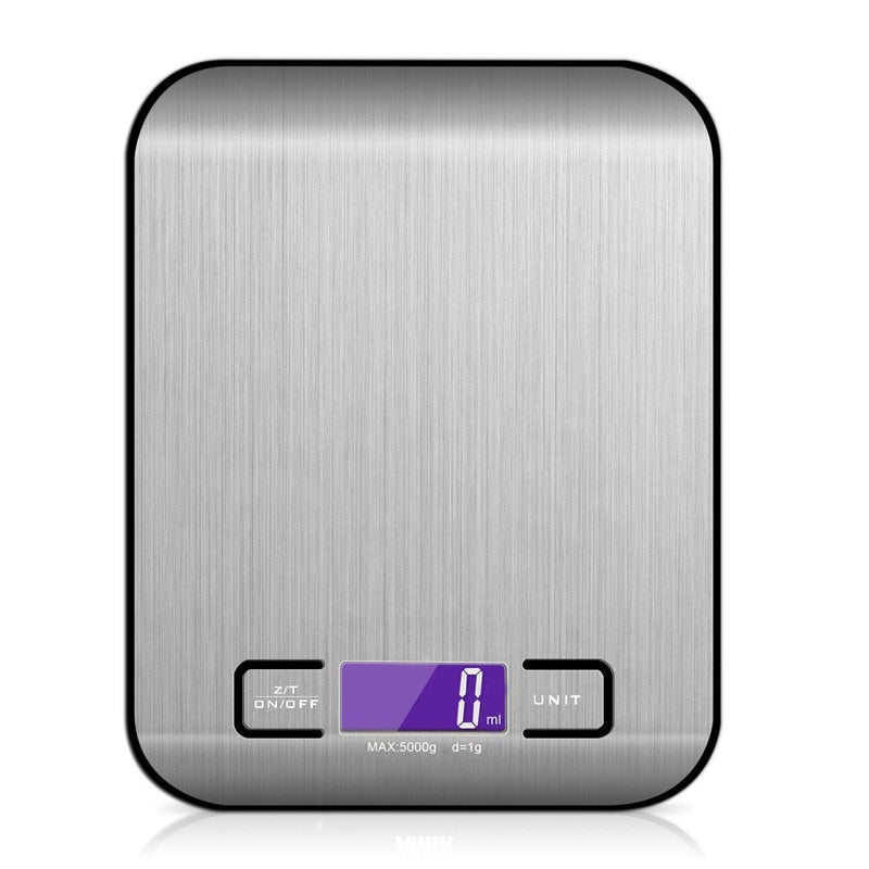 Electronic Kitchen Scale - Stainless Steel Digital Food Scale