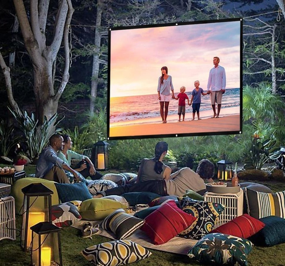 Giant Projector Screen - Portable Outdoor And Indoor Movie Screen For Home Theater