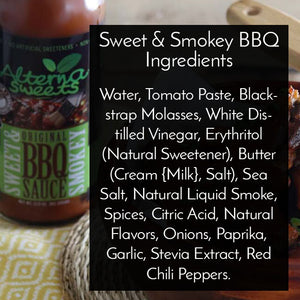 AlternaSweets Low Carb Sweet & Smokey BBQ Sauce - Best Seller! - AlternaSweets