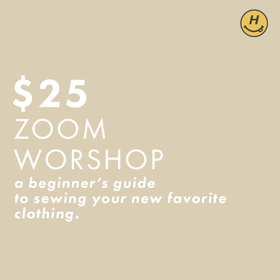 How to Start Sewing! | Zoom Workshop (1/17)