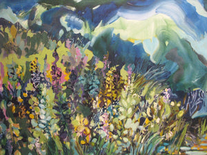 At the Edge of the Pond Close Up, Artist Flora Doehler, Bear River, Nova Scotia