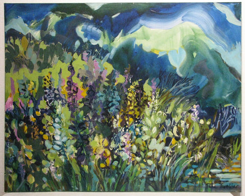 At the Edge of the Pond, Artist Flora Doehler, Bear River, Nova Scotia