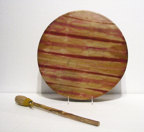 Chestnuts & Beets Dyed Drum, artist Michelle Tweed