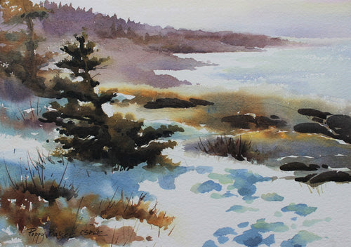 Coastal Path, artist Poppy Balser, Digby, Nova Scotia