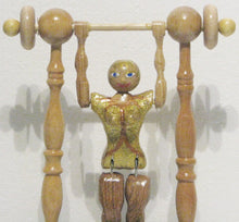 Load image into Gallery viewer, Female Acrobat Toy Close Up, artist Charles Hayward