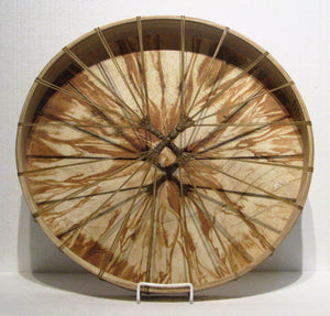 Hemlock Dyed Drum back, artist Michelle Tweed