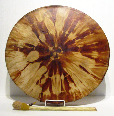 Hemlock Dyed Drum, artist Michelle Tweed
