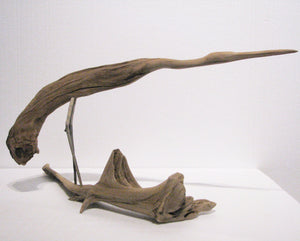 Hand Carved Heron #2 Other Side, Artist Alvah d'Entremont
